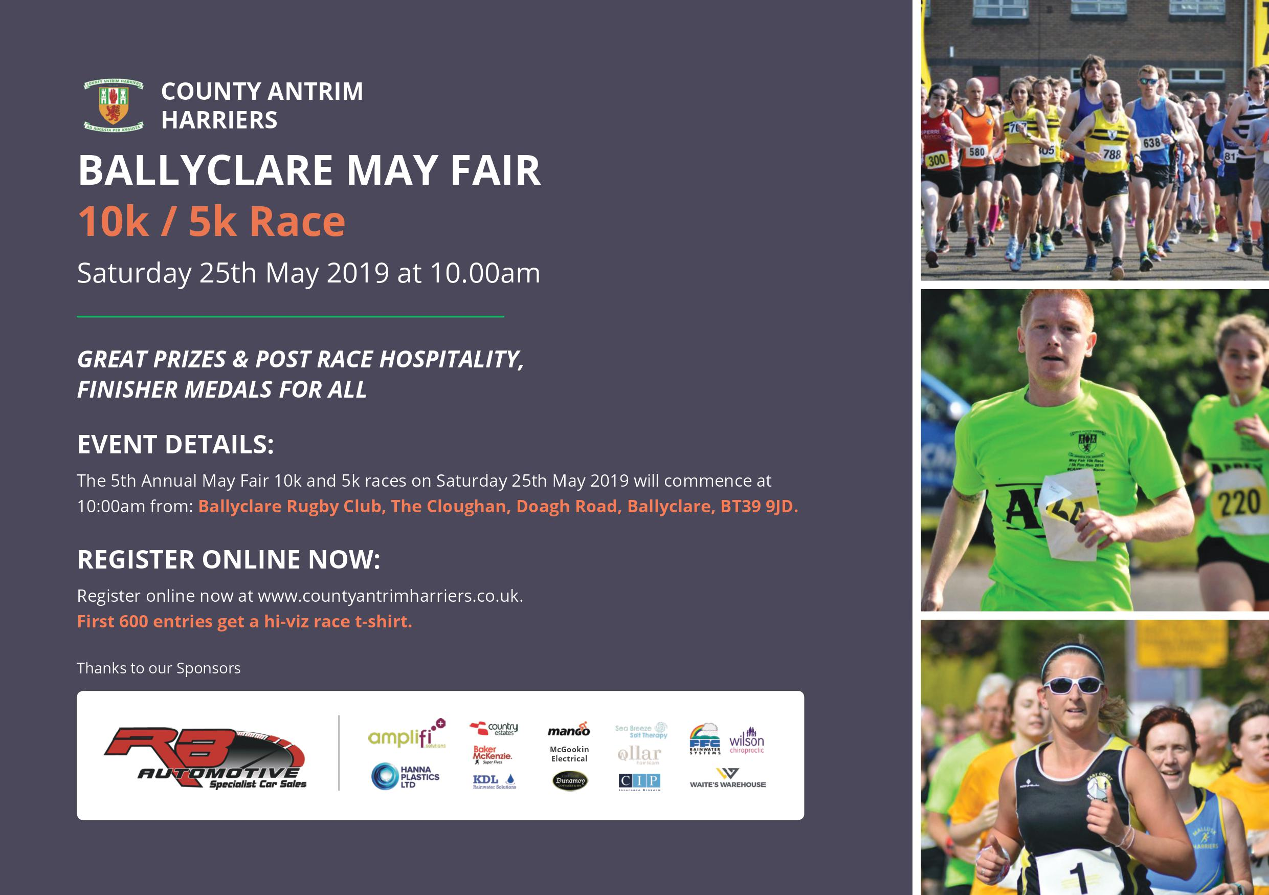 May Fair 10k Race/5K fun run 2018